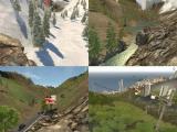 4 environnements différents, de la montagne à la ville